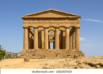 The Temple of Concordia, Agrigento, Sicily island, Italy