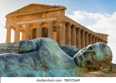 The Temple of Concordia is a Greek temple of the ancient city of Akragas, located in the Valley of the Temples of Agrigento in Sicily