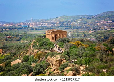 Temple of Concordia. Valley of the Temples in Agrigento, Sicily, Italy