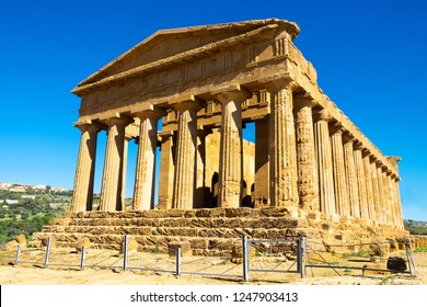 Temple of Concordia in the Valley of the Temples at Agrigento - Sicily