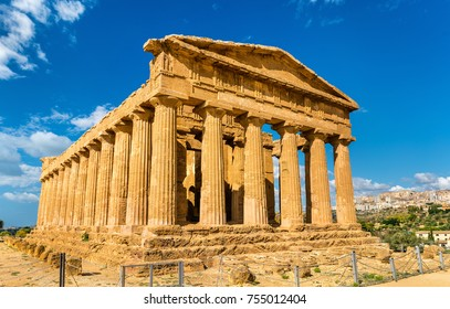 Temple of Concordia in the Valley of the Temples at Agrigento - Sicily, Italy
