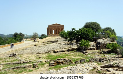The Temple of Concordia.Valley of the Temples.Agrigento.Sicily.
