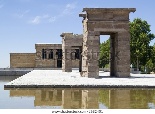 Temple of Debod (Templo de Debod), Egyptian temple located in Madrid, Spain, donated by Egypt.