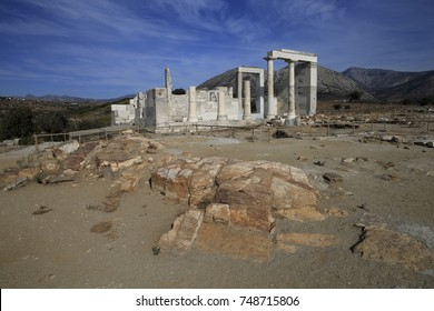 The Temple of Demeter in Sangri, Naxos, Greece