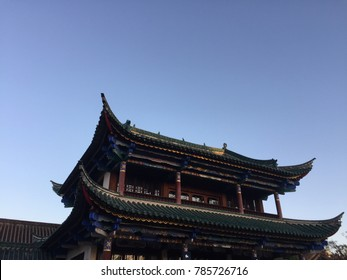 Temple details in Chuiu Park (Kunming, Yunnan, China)