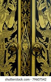 Temple Doors in Thailand