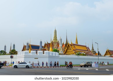 Temple of the Emerald Buddha is the most famous landmark, Bangkok, Thailand