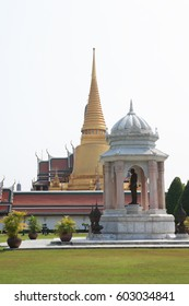 Temple of the Emerald Buddha, Royal Palace in Bangkok, Thailand. Full official name Wat Phra Si Rattana Satsadaram