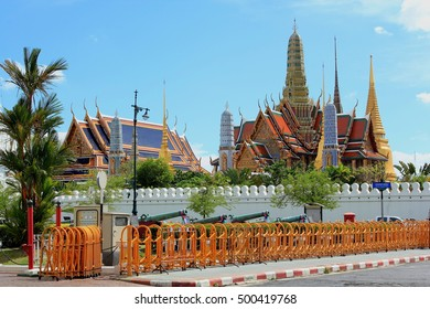 Temple of the Emerald Buddha, Wat phra keaw Bangkok, Thailand. Beautiful Landmark of Thailand Asia