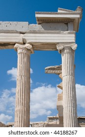 Temple Erechtheion of the architectural ensemble Acropolis. Athens