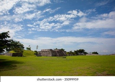 Temple of the Feathered Serpent in Xochicalco Mexico. UNESCO World Heritage Site