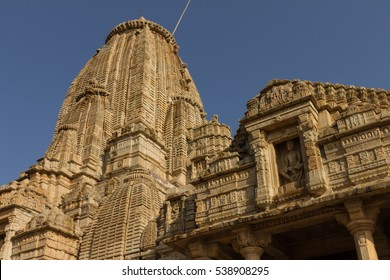 Temple in the fort of Chittor. Example of  Indo-Aryan (North-Indian) architecture. Chittorgarh is the largest fort in India & the largest in entire Asia, it's a UNESCO World Heritage Site.