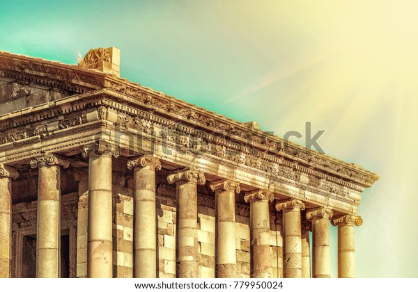 The Temple of Garni is an Ionic temple in Garni, Armenia. It is the best-known structure and symbol of pre-Christian Armenia. It is the only standing Greco-Roman colonnaded building in Armenia. Toned