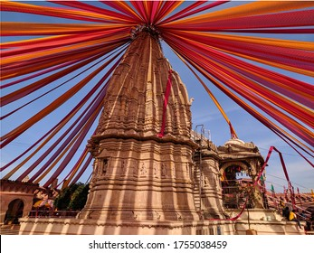 temple of goddess umiya decorated with sarees