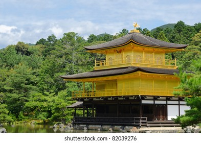 Temple of the Golden Pavilion, known a Kinkaku-ji, is a Buddhist Temple and a World Heritage Site in Kyoto, Japan.