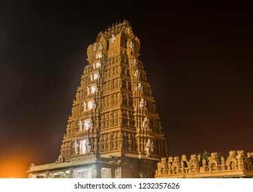 Temple Gopuram at night