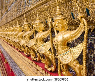 The temple in the Grand palace area, one of the major tourism attraction in Bangkok, Thailand