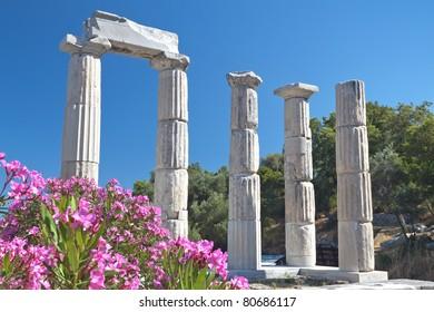 Temple of the Great Gods at Samothraki island in Greece