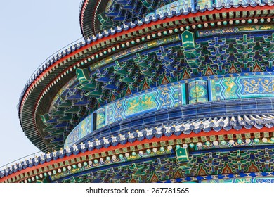 The temple of heaven beautiful building part?It is the largest existing ancient religious buildings in the world