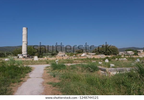 Temple Hera On Samos Greece Stock Photo Edit Now 1248744121
