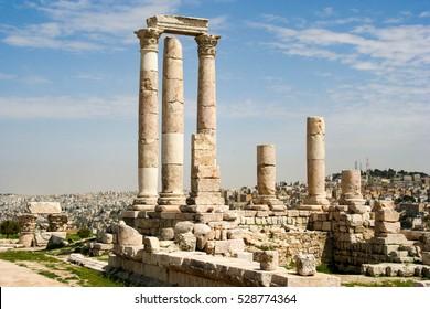 Temple of Hercules in Amman, the capital of Jordan