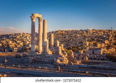 The Temple of Hercules, Amman Citadel, Amman, Jordan