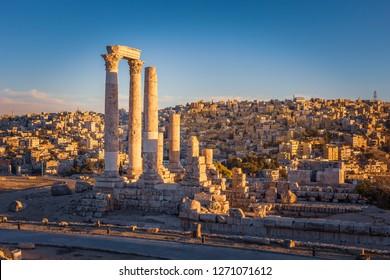 El Templo de Hércules, Amman Citadel, Ammán, Jordania