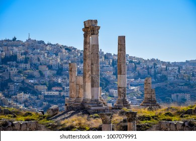 Temple of Hercules, the number one and most visited tourist attraction of Amman, capital city of Jordan
