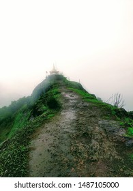 Temple at the hill top in monsoon season 1400 ft above