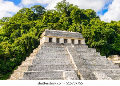 Temple of the Inscriptions, Palenque, was a pre-Columbian Maya civilization of Mesoamerica. Known as Lakamha (Big Water). UNESCO World Heritage