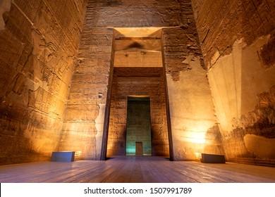Temple of Isis on Philae Island, Aswan, Egypt.