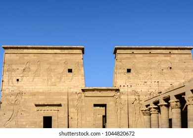 The temple of Isis at Philae island, Aswan, Egypt