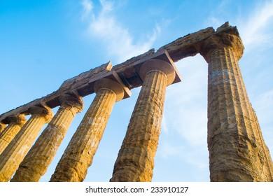 Temple of Juno in Agrigento Valle dei Templi, Sicily, Italy