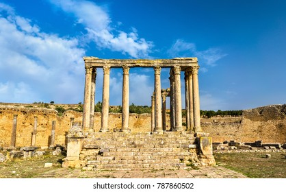 Temple of Juno Caelestis at Dougga, an ancient Roman town in Tunisia. North Africa