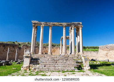 Temple of Juno Caelestis in the Roman ruins of Dougga, Tunisia