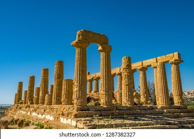 Temple of Juno. Valley of the Temples in Agrigento on Sicily