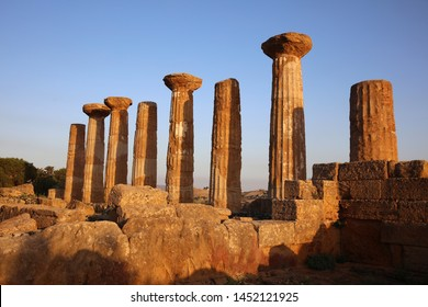 Temple of Juno at the Valley of Temples in Agrigento. Sicily