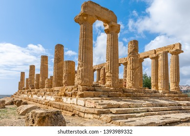 Temple of Juno in the Valley of Temples near Agrigento, Sicily, Italy