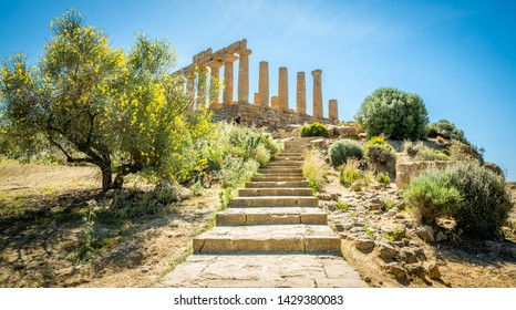 The Temple of Juno in the vally of temples, Agrigento, Italy