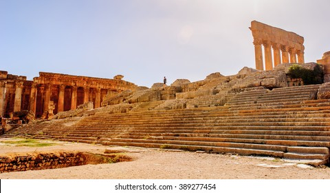 Temple of Jupiter, Baalbek, Lebanon. It is Lebanon's greatest Roman treasure, and it can be counted among the wonders of the ancient world, containing some of the largest and best preserved Roman rui