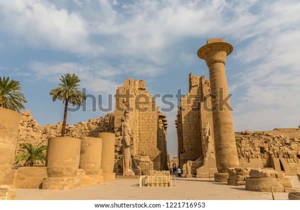 The temple in Karnak