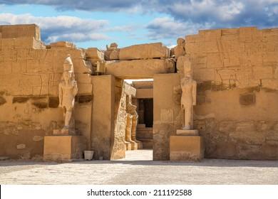 Temple of Karnak in Egypt africa, Monument