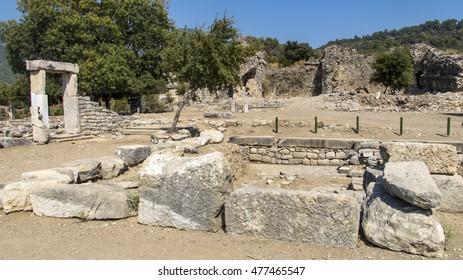 The Temple in Kaunos Ancient City, Dalyan, Turkey