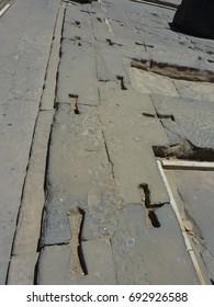 Temple of Kom Ombo's floor