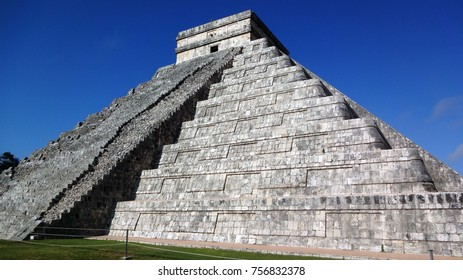 The Temple of Kukulcan at the Chichen Itza archaeological site, Mexico.