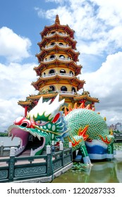 Temple at Lake in Kaohsiung in Taiwan