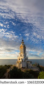 Temple lighthouse by the sea