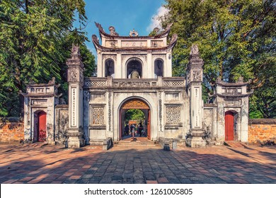 Temple of Literature in Hanoi, Vietnam