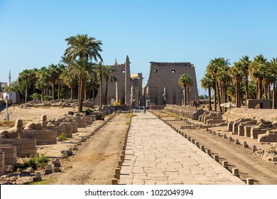 Temple of Luxor Egypt - large Ancient Egyptian temple complex located on the east bank of the Nile River in the city today known as Luxor