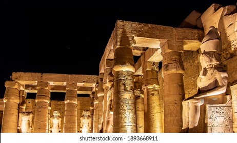 Temple of Luxor at night in Luxor, Egypt